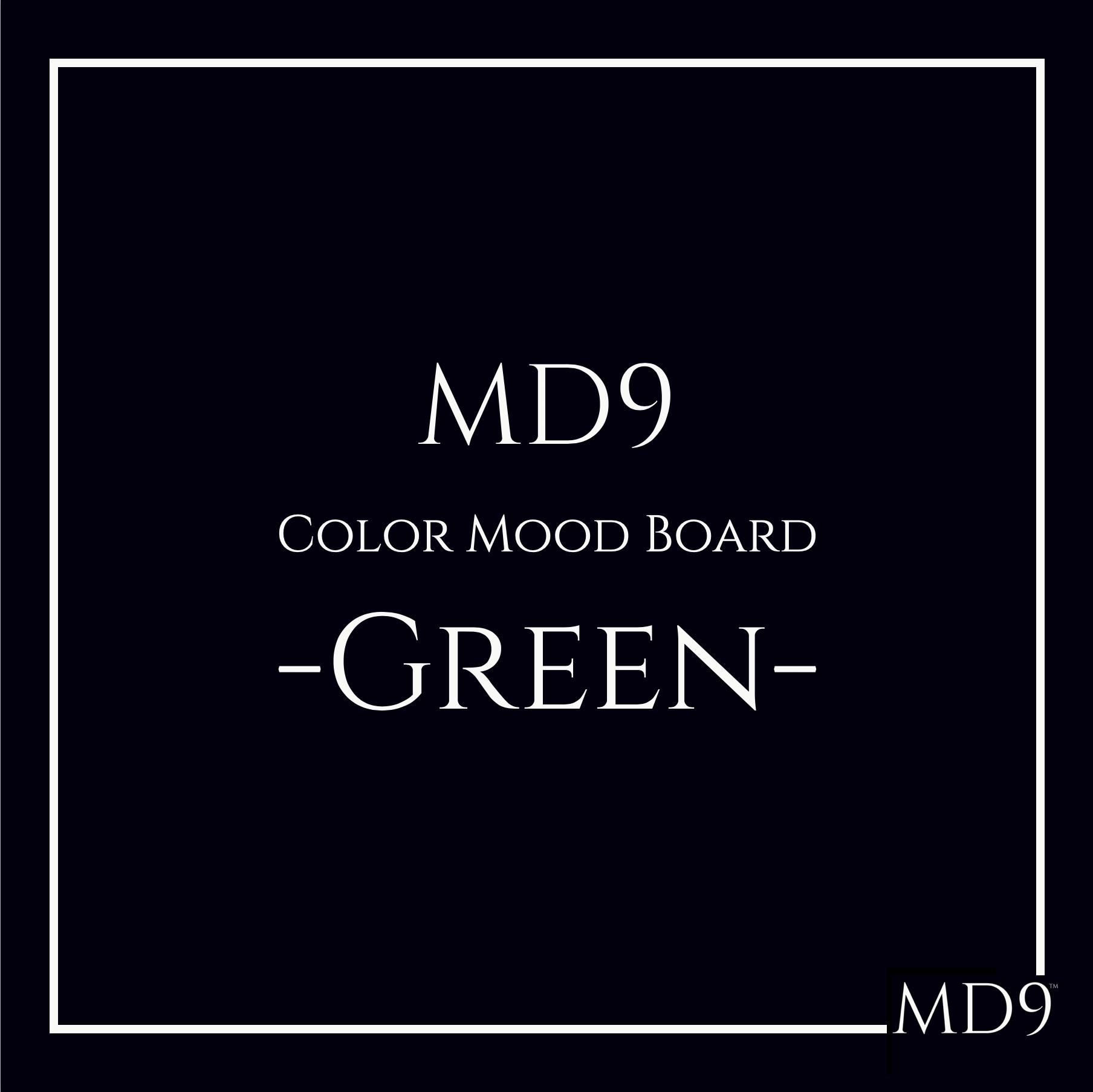 MD9's Colors Mood Board – Green