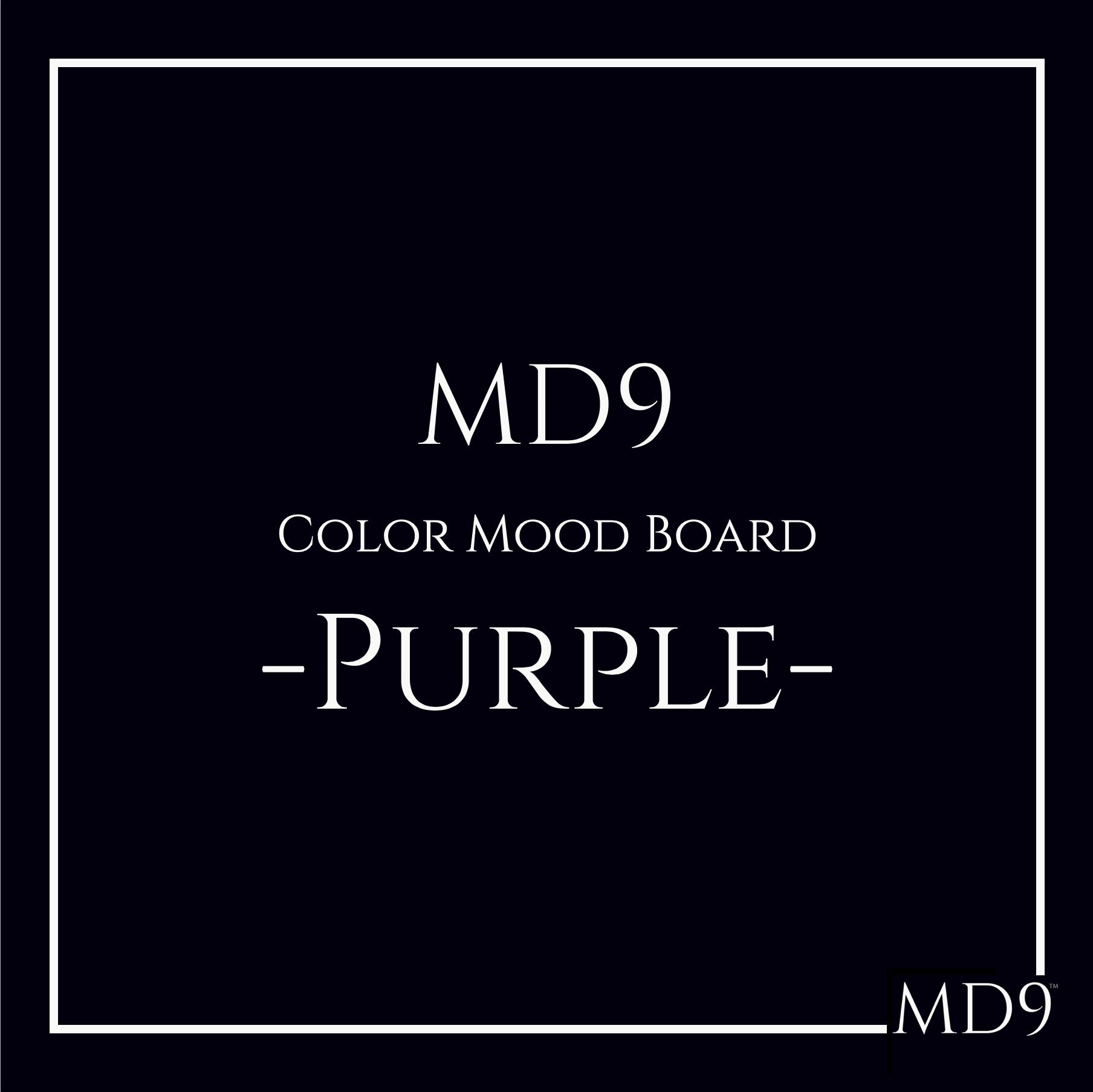 MD9's Colors Mood Board – Purple