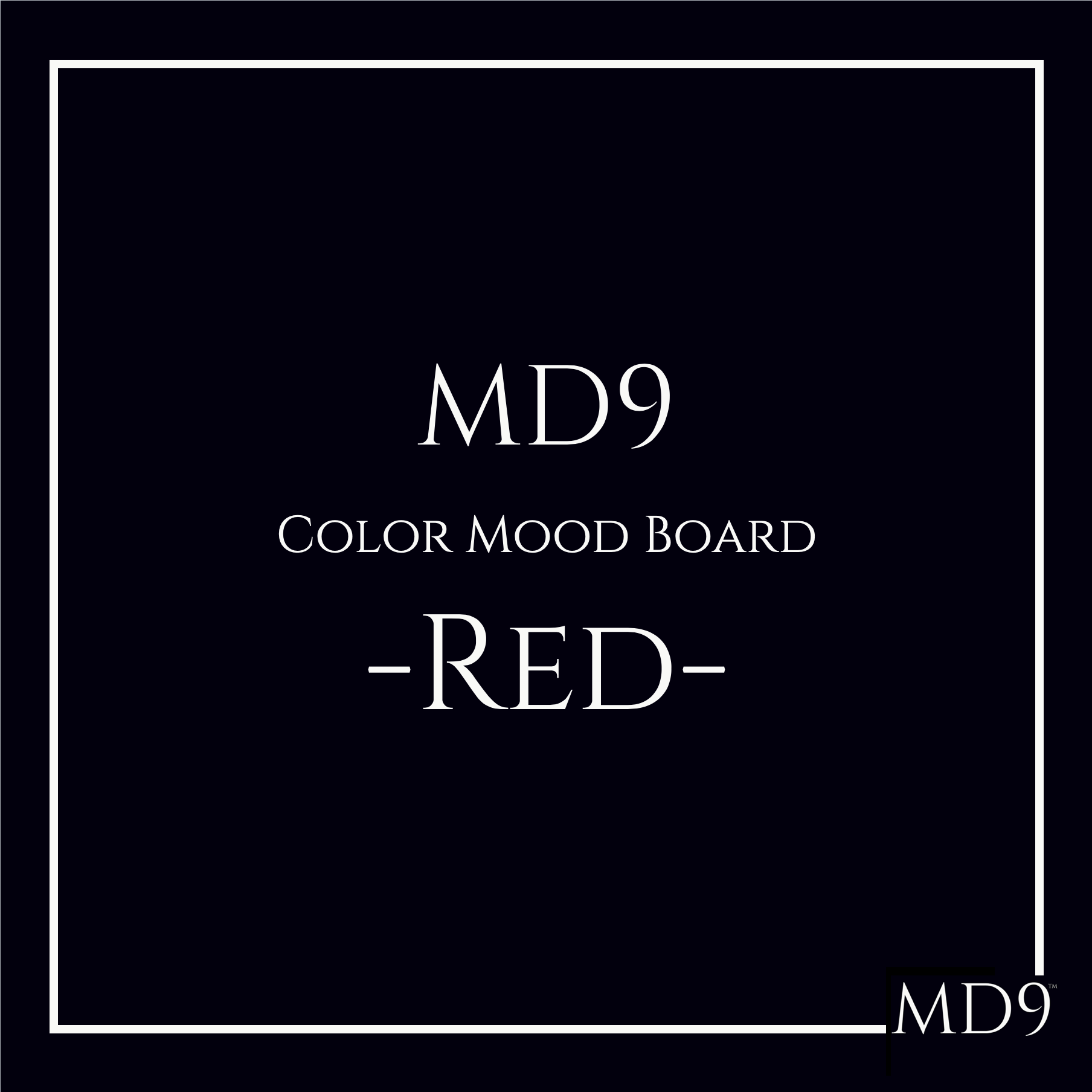 MD9's Colors Mood Board – Red