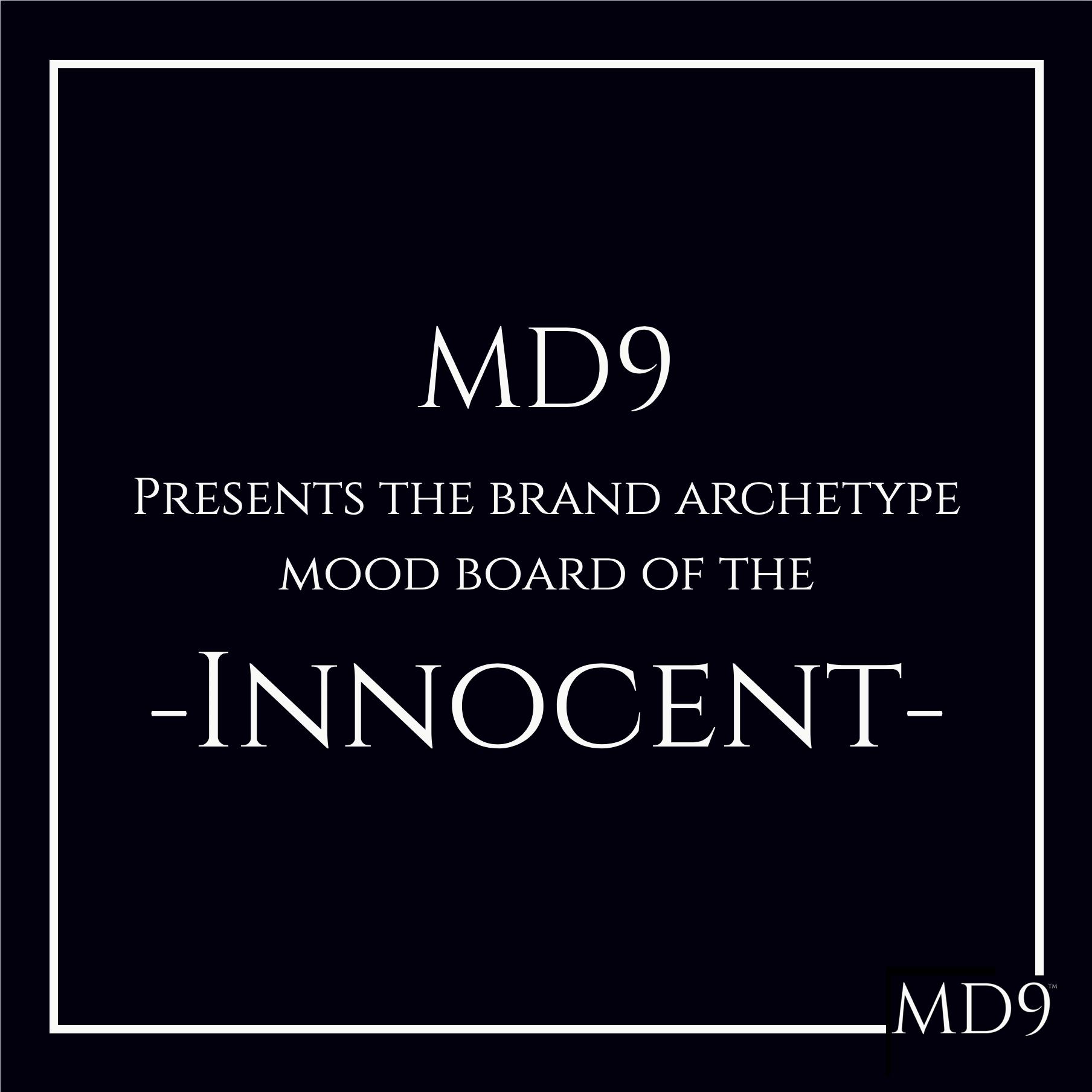 MD9's Brand Archetype Mood Board – Innocent