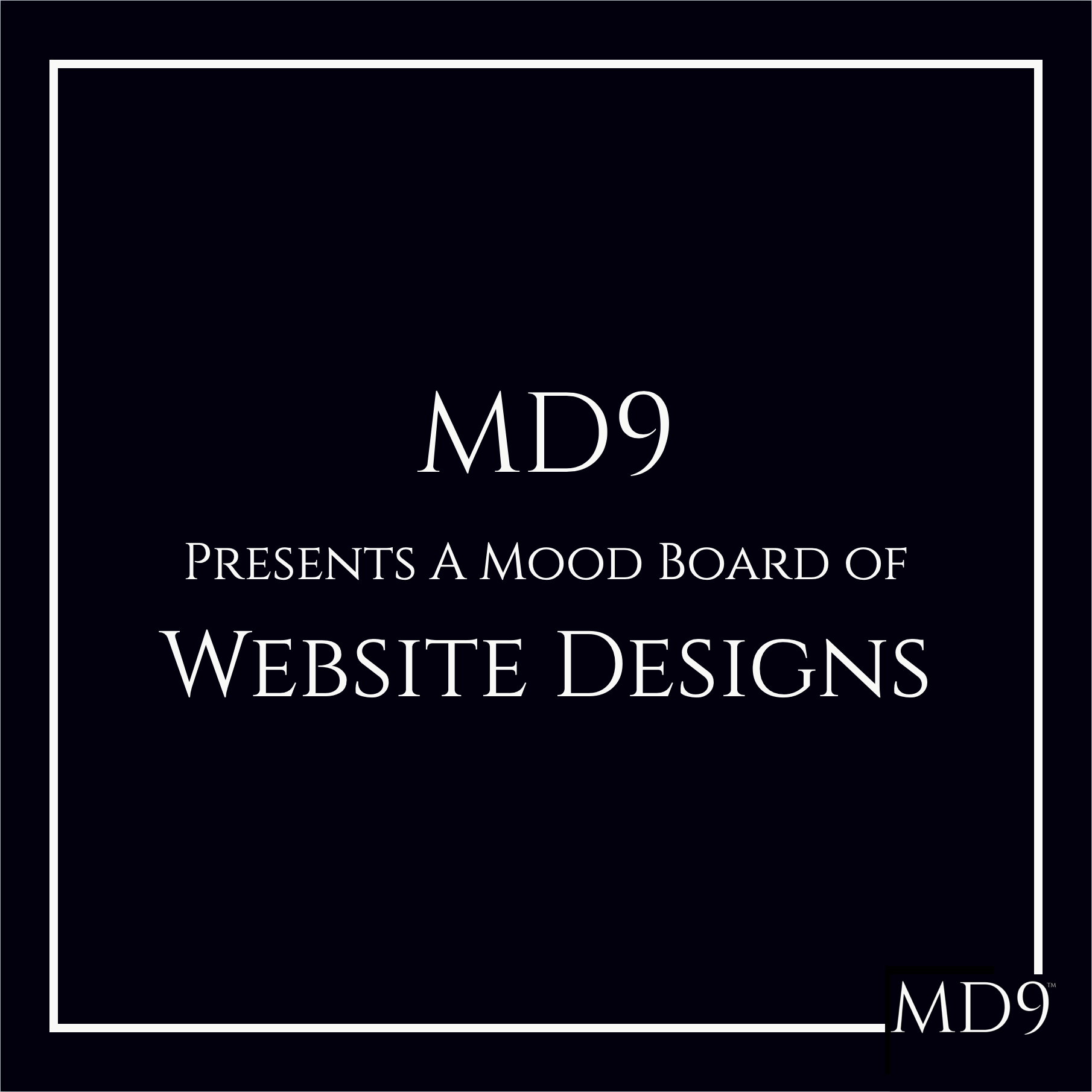 MD9's Design Mood Board – Websites